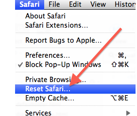 safari file menu